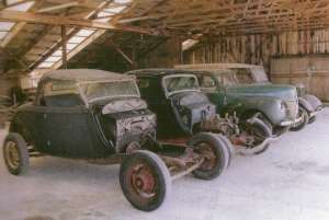 Cars in Polebarn